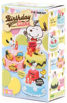 Snoopy Birthday Cake Re-Ment miniature blind box 3