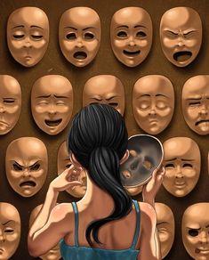Art Drawings Deep Meaning Ideas For 2019 Drawing Faces, Art Drawings, Mask Drawing, Drawing Art, Pencil Drawings, Art Triste, Satirical Illustrations, Satirical Cartoons, Deep Art
