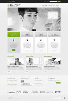 'Callpoint Communications' Bootstrap #webdesign Template http://zign.nl/42673