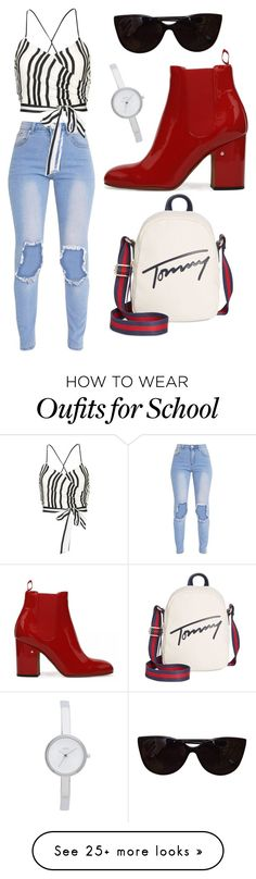 """Summer school"" by shepard-india on Polyvore featuring Tommy Hilfiger, Alice + Olivia, Tiffany & Co. and DKNY"