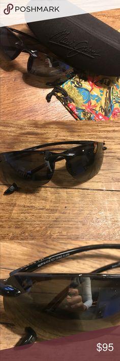Maui Jim Banyan Sport Sunglasses MJ 412-01 Black frames with black lenses and case Maui Jim Accessories Sunglasses