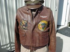 Page 6 of 22 - My Collection- WWII Airborne & Air Corps - posted in PINNED DISPLAYS: I feel as if I should pay you an admission fee! Leather Flight Jacket, Leather Jackets, Nose Art, Painted Jackets, Painted Leather Jacket, Pin Up, Silver Wings, Painting Leather, Air Travel