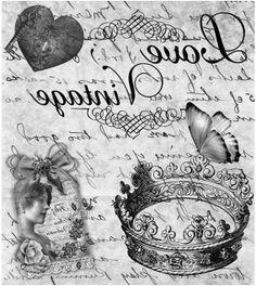 I love vintage Decoupage Vintage, Vintage Collage, Vintage Diy, Shabby Vintage, Vintage Labels, Vintage Cards, Vintage Paper, Vintage Postcards, Vintage Prints