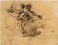 "Eugene Delacroix Illustration for ""Faust"" by Goethe 1825-27"