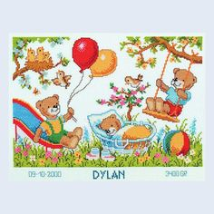 Dylan - counted cross-stitch kit Vervaco