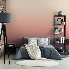 45 Fabulous Ombre Wall Paint Designs Ideas - DECORRACKS 45 Fabulous Ombre Wall Paint Designs Ideas - Home is the place which gives you feeling of warmth and comfort after a long tiring day. The wall paint colors can make your home look elegant or funk. Bedroom Wall Designs, Bedroom Wall Colors, Bedroom Decor, Wall Decor, Wall Paper Bedroom, Bedroom Murals, Ombre Painted Walls, Ombre Walls, Painted Wall Murals
