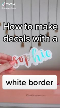How To Use Cricut, How To Make Stickers, Making Stickers, Cricut Explore Projects, Cricut Project Ideas, Cricut Vinyl Projects, Crafty Projects, Diy Projects To Try, Proyectos Cricut Explore