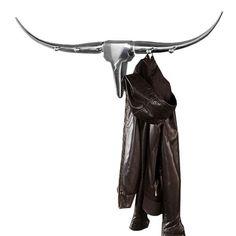 Dekoracja alu Bull + Wieszak srebrna (199,00 zł) - sklep Planeta Design Darth Vader, Hangers, Design, Clothes Hanger, Clothes Hangers, The Hunger, Coat Stands