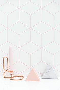 zilverblauw-wallpaper-hexagonal-pink-sfeer1
