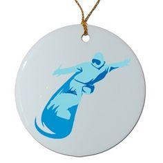 Porcelain Snowoarder Ornament