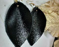 Items similar to Genuine leather leaf earrings / trend earrings / on Etsy Handmade Bags, Handmade Jewelry, Unique Jewelry, Leaf Earrings, Teardrop Earrings, Leather Earrings, Leather Jewelry, Leather Leaf, Earring Trends