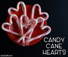 A Bubbly Life: Candy Cane Hearts- Christmas Party Favor