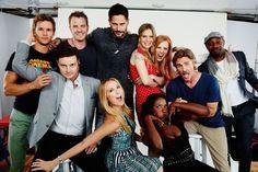True Blood cast at Comic Con   source: TV Guide magazine