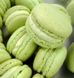 pistachio macarons Swear to god if I hadnt been to France you`d think this was all they eat with all the french pins!!
