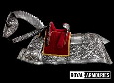 The Burgundian Bard: This horse armour was a gift from the Holy Roman Emperor Maximilian I to Henry VIII to mark his marriage to Katherine of Aragon in 1509. It is described in an English inventory of 1519 as 'given by the Emperor'.  http://www.royalarmouries.org/visit-us/leeds/leeds-galleries/tournament-gallery/henry-viii/the-burgundian-bard-1