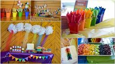 convite festa arco iris - Pesquisa Google