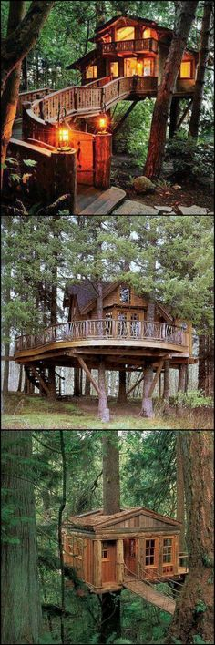"If the idea of a tree house doesn't stir your imagination, you might want to check that your heart is still beating :)  The great news is that there are lots of inspired adults around the world determined to fulfil their childhood desires!  For more examples head over to our ""Treehouses for the Child Within"" album on our site at http://theownerbuildernetwork.co/vo53  Whoever said treehouses are just for the kids?"