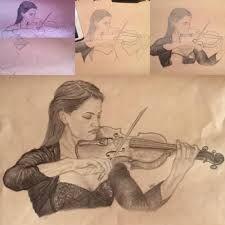 Αποτέλεσμα εικόνας για girl playing the violin drawing
