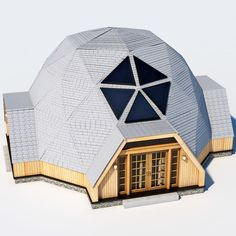 Geodesic Dome House Model available on Turbo Squid, the world's leading provider of digital models for visualization, films, television, and games. Great Buildings And Structures, Modern Buildings, House 3d Model, Geodesic Dome Homes, Bamboo Structure, Dome House, Forest House, Earthship, Tiny House Design