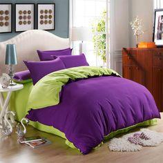 Home textile,reactive printing 14styles 100 cotton king/queen bedding set 4pcs solid color bedspread bedsheet duvet cover set $85.99