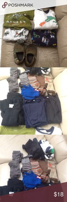 Assorted Clothes for a 7/8 yr old Assorted fleece PJs (Carters size8), slippers size 10-12 little kid and sunglasses, Uniqlo Heat-tech set size 7-8 and 5 pairs of socks, thermals set size 6/7, assorted ankle socks for 5-7yrold. Selling as a set, great deal, some noticeable wear, no holes, rips or tears. Other