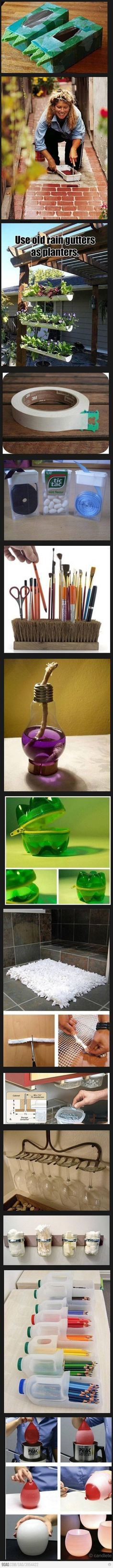 Awesome recycling ideas!