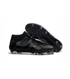 Acheter Nouvelles - Chaussures adidas ACE 16.1 Primeknit FG/AG tout Noir pas cher en ligne 129,00€ sur http://cramponsdefootdiscount.com