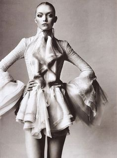 Gemma Ward wearing Nicolas Ghesquiere for Balenciaga photographed by Irving Penn for Vogue US March 2006