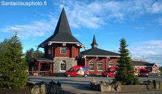 Santa Claus Holiday Village and Christmas House at the Arctic Circle in summertime in Rovaniemi in Lapland, Finland - Christmashousesanta. Santa Claus Village, Santa's Village, Meet Santa, Destinations, Lapland Finland, Arctic Circle, Christmas Villages, Summertime, Vacation