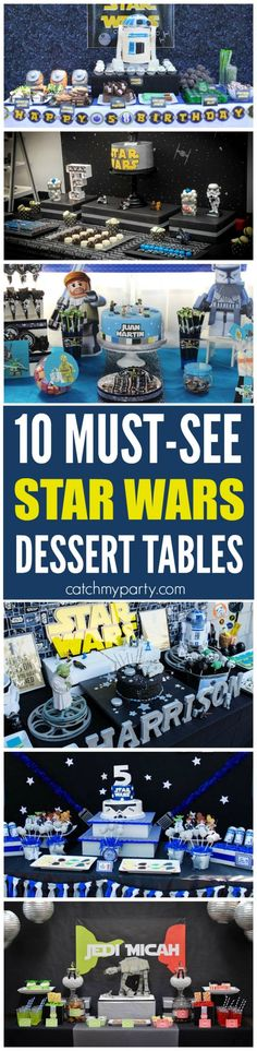 10 Must-See Star Wars Dessert Tables | CatchMyParty.com