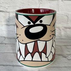 Looney Tunes Tasmanian Devil Coffee Mug Vintage 1998 Gibson Warner Brothers