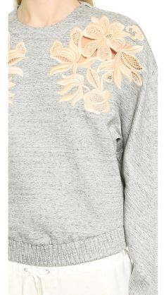 Lace Embroidered Sweatshirt