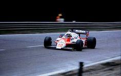 Andrea de Cesaris (ITA) (Marlboro Team Alfa Romeo), Alfa Romeo 183T - Alfa Romeo 890T 1.5 V8 (t/c) (RET) 1983 Belgian Grand Prix, Circuit de Spa-Francorchamps © John Millar | Source: Fickr
