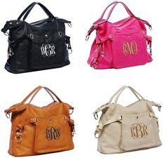 This Chic Personalized Purse will be great with your wardrobe! Comes in 4 colors to choose from and personalization options are endless.