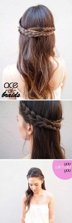 8 Friendly Cute 5 Minute Hairstyles for School Gallery Check more at www.juanpa… 8 Friendly Cute 5 Minute Hairstyles for School Gallery Check more at www. Hairstyles For Medium Length Hair Tutorial, Braids For Medium Length Hair, Haircuts For Long Hair, Braids For Long Hair, Hairstyles For School, Cute Hairstyles For Medium Hair, 5 Minute Hairstyles, Kids Braided Hairstyles, Down Hairstyles