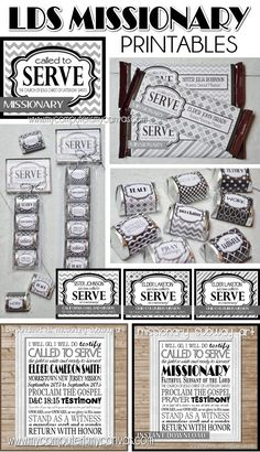 Lots of great LDS Missionary Printables... Nugget Wrappers, Hershey Bar Wrapper, Subway Art - some can be personalized! Perfect for Farewells, Homecomings and Open Houses... Elder or Sister #mycomputerismycanvas
