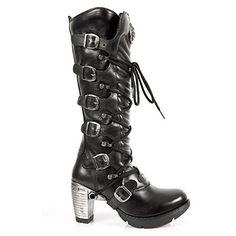Winter 7 Damen 5 Schaft Rock Stiefel Elegant 41 Schwarze Uk