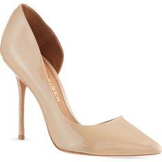 Kurt Geiger London Anja courts (230 CAD) ❤ liked on Polyvore featuring shoes, pumps, heels, nude, kurt geiger shoes, heel pump, polish shoes, high heel shoes and high heeled footwear