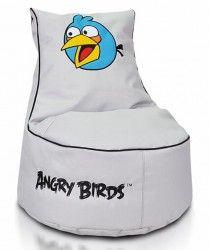 šedý sedací Vak s angry bird