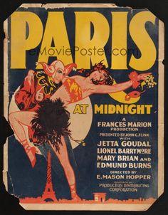 Paris at Midnight (1926) Stars: Jetta Goudal, Lionel Barrymore, Mary Brian, Edmund Burns ~ Director: E. Mason Hopper