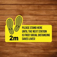Promote social distancing by getting your customers to queue from station to station with these handy floor graphics.   Printed 500mm wide on a hightac floor vinyl and laminated with an anti slip laminate.   #socialdistancing