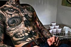 awesome 3D Skull Tattoo For Men - Stylendesigns.com!