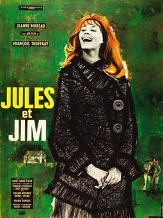 Jules et Jim 1962 di Francois Truffaut con Jeanne Moreau, Henri Serre e Oskar Werner.