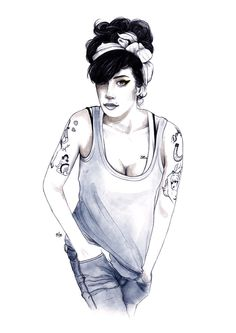 Amy Winehouse | Portraits Illustration 2015 | Marrow Melow