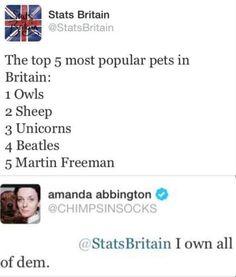 Amanda Abbington. Epic win.--> I live the fourth one.