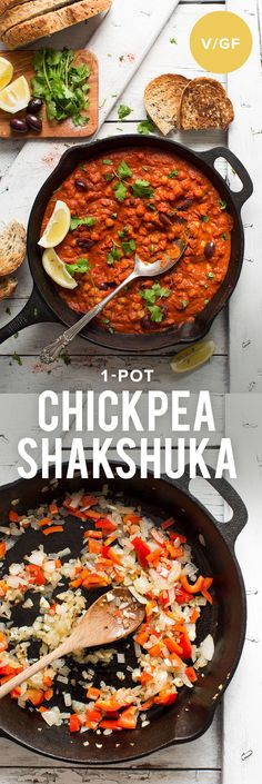 AMAZING Chickpea SHAKSHUKA! 1 Pot, 30 minutes, so much #plantprotein! #vegan #glutenfree #plantbased #shakshuka #recipe #easy #healthy #minimalistbaker
