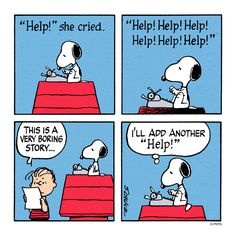 A story by Snoopy