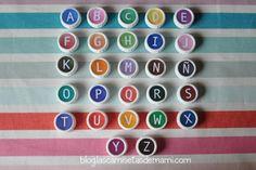 DIY como hacer un abecedario con materiales reciclados