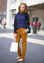 Love this color combo. Always looking for good palates for redheads like me!