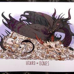 Hoard of bones print